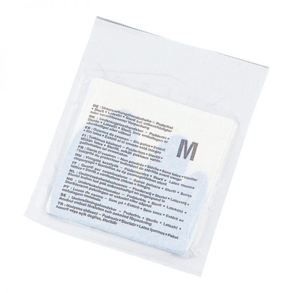 AS ONE Sterile gloves With No Powder DeepSkyBlue
